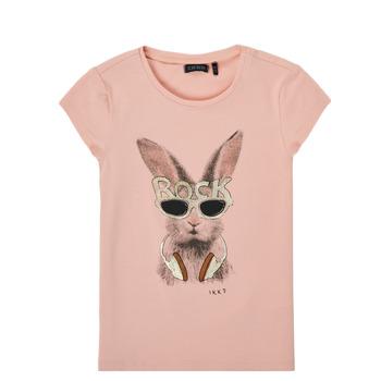 Vêtements Fille T-shirts manches courtes Ikks XS10342-32-C Rose