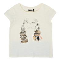 Vêtements Fille T-shirts manches courtes Ikks XS10002-11-C Blanc