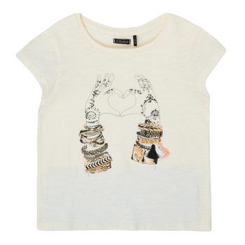 Vêtements Fille T-shirts manches courtes Ikks BIANCA Blanc