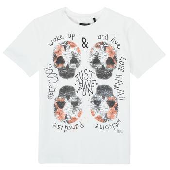 Vêtements Garçon T-shirts manches courtes Ikks KHOLE Blanc