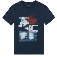 Vêtements Garçon T-shirts manches courtes Ikks HAUNA Marine