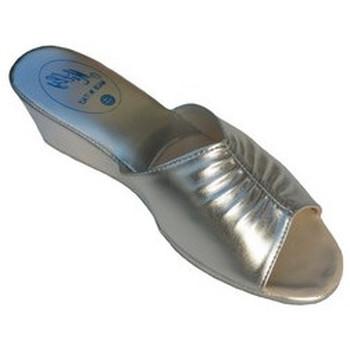 Chaussures Femme Mules Original Milly PANTOUFLE DE CHAMBRE MILLY - 1805 ARGENT Argenté