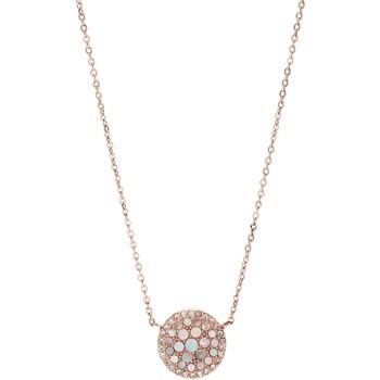 Montres & Bijoux Femme Colliers / Sautoirs Fossil Collier  acier rose empierré Rose