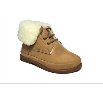 Chaussures Fille Bottes de neige Pom d'Api Fan-Fan Fur marron