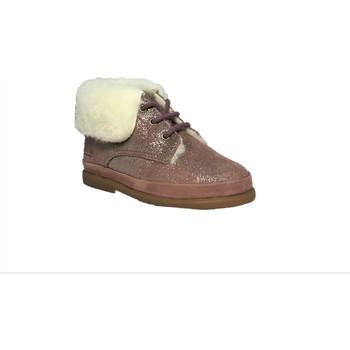 Chaussures Fille Bottes de neige Pom d'Api Fan-Fan Fur vieux rose
