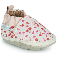 Chaussures Fille Chaussons Robeez SUNNY CAMP Ecru / Rose / Rouge