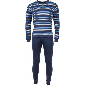 Vêtements Homme Pyjamas / Chemises de nuit Guasch - pyjama long BLEU