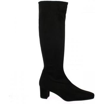 Chaussures Femme Bottes ville Pao Bottes stretch velours Noir