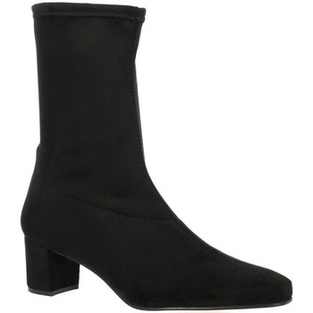 Chaussures Femme Boots Pao Boots stretch velours Noir