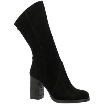 Chaussures Femme Bottes Nuova Riviera Bottes cuir velours Noir