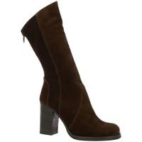 Chaussures Femme Bottes Nuova Riviera Bottes cuir velours Marron