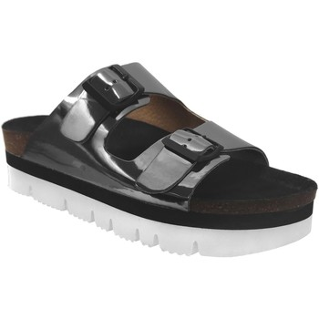 Chaussures Femme Mules Plakton Bloc-sta-460010 Gris