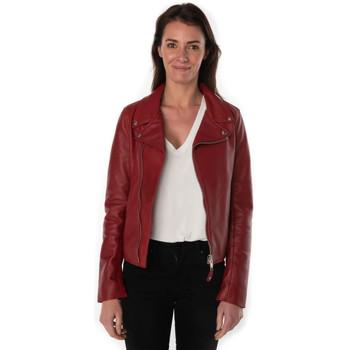Vêtements Femme Vestes en cuir / synthétiques Schott LCW8614 RED Rouge