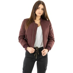Vêtements Femme Blousons Bombers Original original burgundy rouge