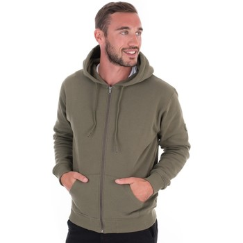 Vêtements Homme Sweats Kiwi Saint Tropez Sweat capuche zip homme chicago kaki Vert