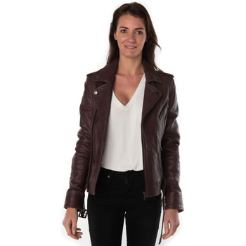 Vêtements Femme Vestes en cuir / synthétiques Rose Garden DAHLIA SHEEP VEG SHRUNKEN FIG ZZ violet