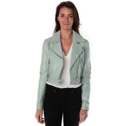 Vêtements Femme Vestes en cuir / synthétiques Rose Garden FLEUR LAMB CASTEL RODEO GREEN Vert