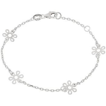 Montres & Bijoux Bracelets Cleor Bracelet  en Argent 925/1000 Blanc