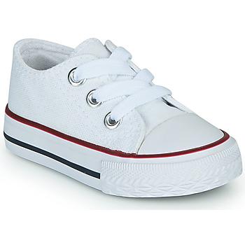 Chaussures Enfant Baskets basses Citrouille et Compagnie OTAL Blanc