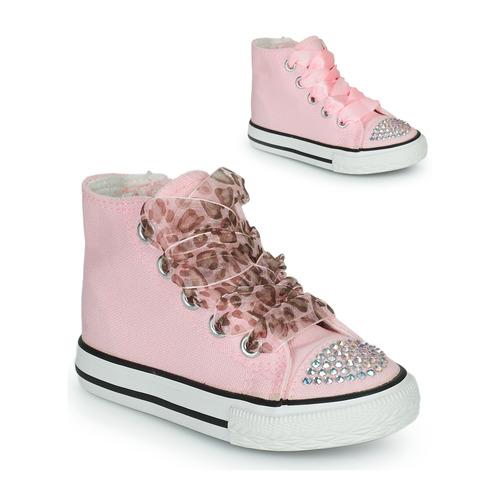 Chaussures Fille Baskets montantes Citrouille et Compagnie OUTIL Rose