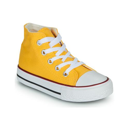 Chaussures Enfant Baskets montantes Citrouille et Compagnie OUTIL Jaune