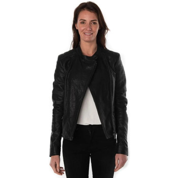 Vêtements Femme Vestes en cuir / synthétiques Rose Garden VITA SHEEP TURBULA BLACK ZZ Noir
