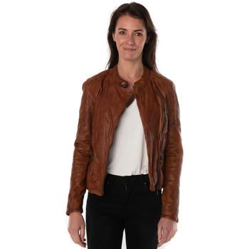 Vêtements Femme Vestes en cuir / synthétiques Rose Garden CORINTH LAMB BARATINI COGNAC ZZ Cognac