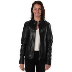 Vêtements Femme Vestes en cuir / synthétiques Rose Garden REDA LAMB SANDY BLACK/GREEN ZZ Noir
