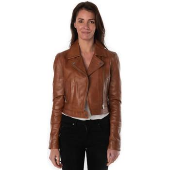 Vêtements Femme Vestes en cuir / synthétiques Rose Garden FLEUR LAMB CASTEL TAN Cognac