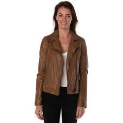 Vêtements Femme Vestes en cuir / synthétiques Oakwood CLIPS 2 COGNAC 507 Cognac