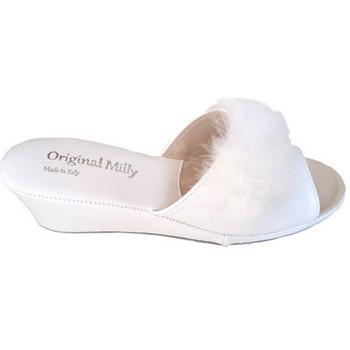 Chaussures Femme Mules Original Milly PANTOUFLE DE CHAMBRE MILLY - 102 BLANC blanc