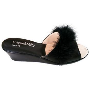 Chaussures Femme Mules Original Milly PANTOUFLE DE CHAMBRE MILLY - 102 NOIR Noir