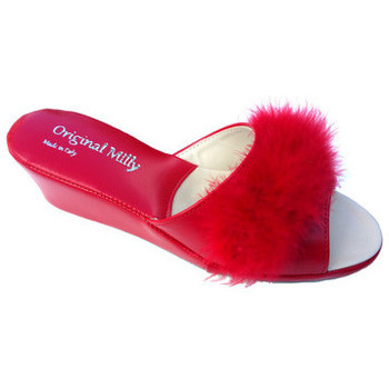 Chaussures Femme Mules Original Milly PANTOUFLE DE CHAMBRE MILLY - 102 ROUGE rouge