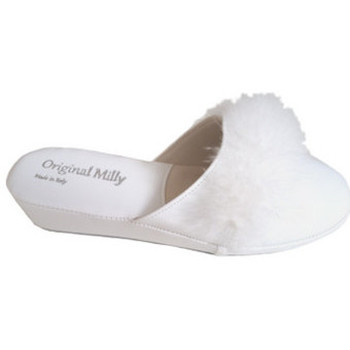 Chaussures Femme Mules Original Milly PANTOUFLE DE CHAMBRE MILLY - 302 BLANC blanc