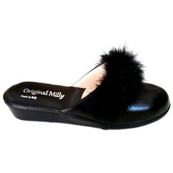 Chaussures Femme Mules Original Milly PANTOUFLE DE CHAMBRE MILLY - 302 NOIR Noir