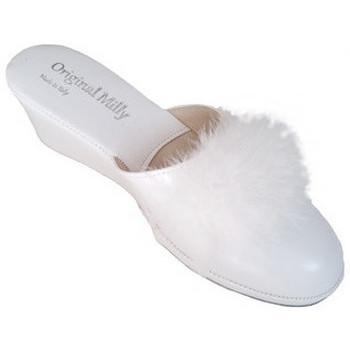 Chaussures Femme Mules Original Milly PANTOUFLE DE CHAMBRE MILLY - 300 BLANC blanc