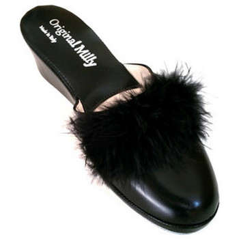 Chaussures Femme Mules Original Milly PANTOUFLE DE CHAMBRE MILLY - 300 NOIR Noir