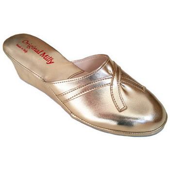 Chaussures Femme Mules Original Milly PANTOUFLE DE CHAMBRE MILLY - 2000 OR Doré
