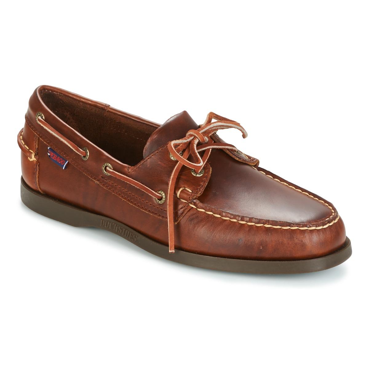 sebago docksides marron livraison gratuite avec chaussures chaussures bateau. Black Bedroom Furniture Sets. Home Design Ideas
