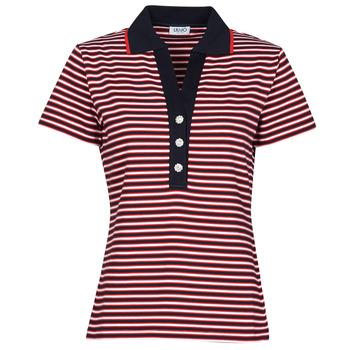 Vêtements Femme Polos manches courtes Liu Jo WA1142-J6183-T9701 Marine / Blanc / Rouge