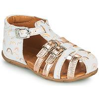 Chaussures Fille Sandales et Nu-pieds GBB RIVIERA Blanc