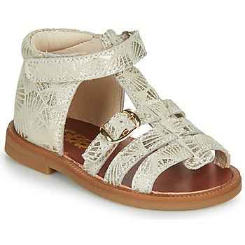 Chaussures Fille Sandales et Nu-pieds GBB PHILIPPINE Beige / Doré