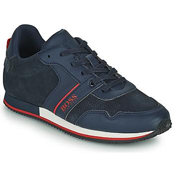 Chaussures Garçon Baskets basses BOSS HOLLA Bleu