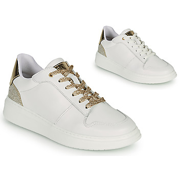 Chaussures Fille Baskets basses BOSS NILLA Blanc / Doré