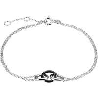 Montres & Bijoux Bracelets Cleor Bracelet  en Argent 925/1000 et Onyx Blanc
