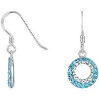 Montres & Bijoux Femme Boucles d'oreilles Cleor Boucles d'oreilles  en Argent 925/1000 et Cristal Bleu Blanc