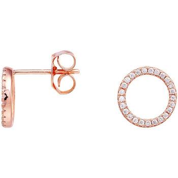 Montres & Bijoux Femme Boucles d'oreilles Arbelo Boucles d'oreilles  en Argent 925/1000 Rose et Oxyde Blanc