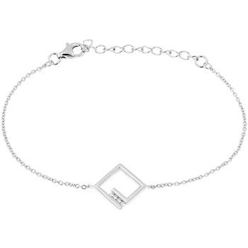 Montres & Bijoux Bracelets Cleor Bracelet  en Argent 925/1000 Blanc et Oxyde Blanc