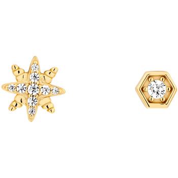Montres & Bijoux Femme Boucles d'oreilles Solis Boucles d'oreilles  en Argent 925/1000 Jaune et Oxyde Jaune