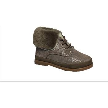 Chaussures Fille Bottines Pom d'Api Fan-Fan Fur Bronze